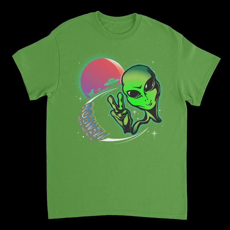 Sun Alien TShirt - Electric Green